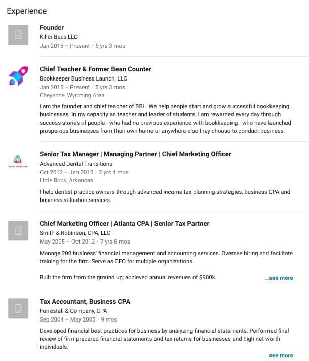 resume screenshot part 1