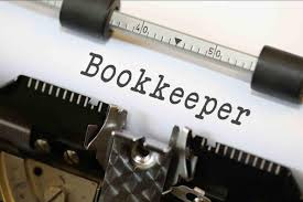 typewriter witht he word bookkeeper