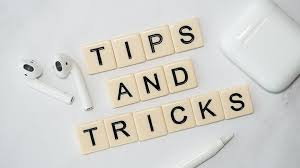 scabble tiles that says tips and tricks