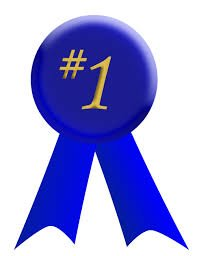 blue #1 ribbon