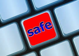 keyboard with the word safe