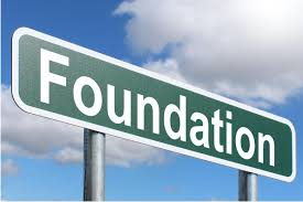 sign that reads foundation