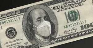 100 dollar bill with mask