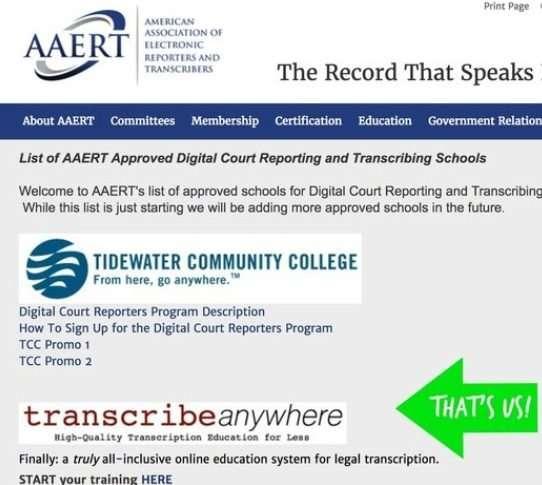 certification screenshot