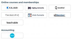 integrations screenshot 2