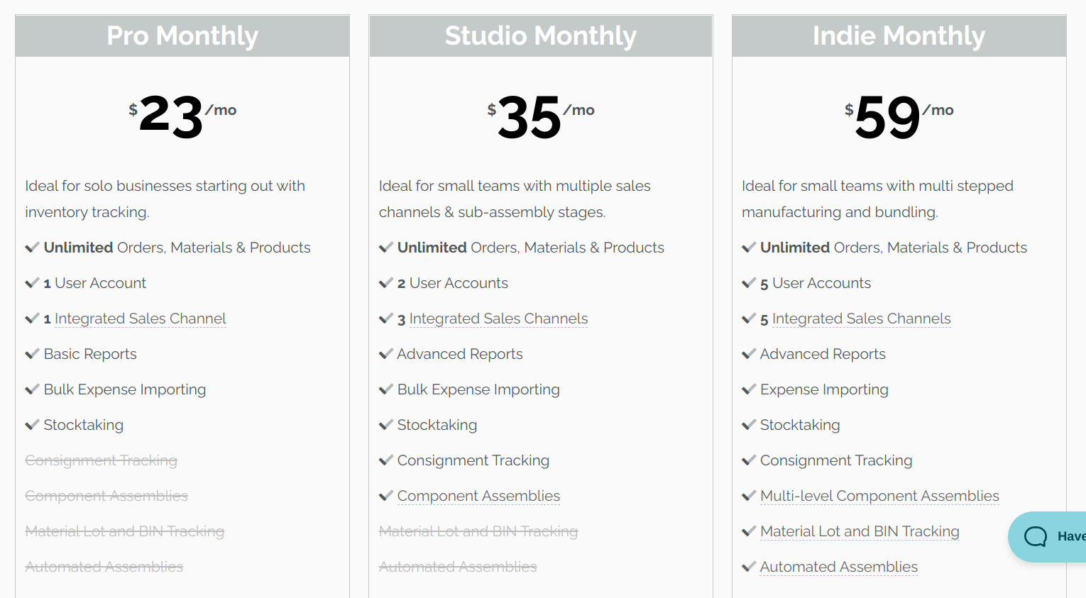 craftybase monthly payments